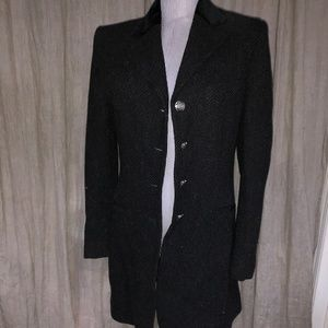 ralph lauren gray tweed blk velvet chesterfield 4